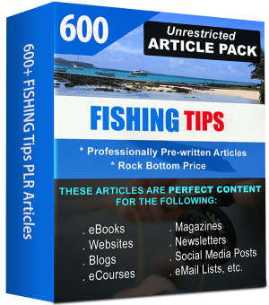 Fishing-Article Pack with Private Label Rights & Resell Rights