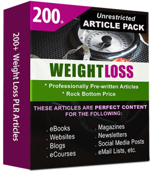 Weight Loss Pre-written Articles