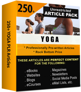 Yoga Pre-written PLR Articles