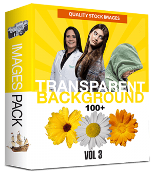 100 Royalty-Free with PLR & Resell Rights Stock Images with Transparent Background (Volume 3)