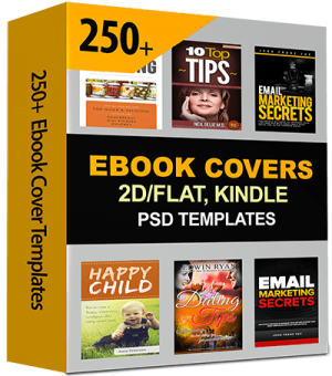 250 Kindle eBook Cover-Templates with PSD Source Files