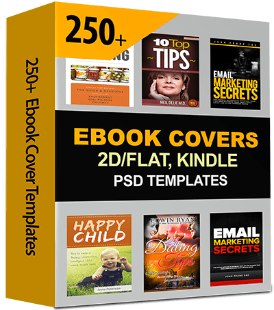250 ebook covers 2d flat kindle editable templates with psd