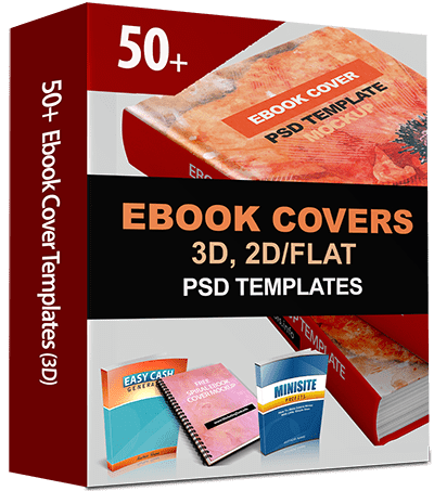 50 ebook covers 2d 3d editable templates with psd source file