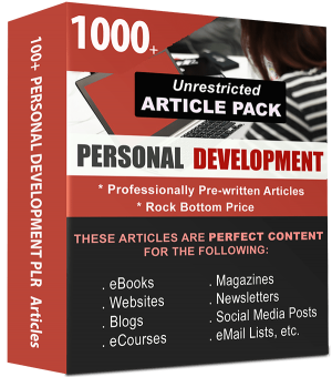Personal Development Article Pack