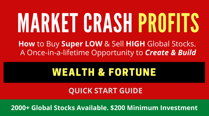 Market Crash Profits. Buy Low, Sell High Global Stocks. Cheap Stocks to Buy